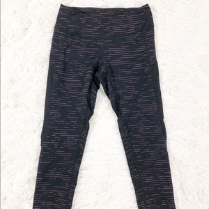 Sell black and pink crop capris size XS
